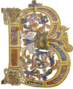 Liking the illuminated letters Medieval Manuscript, Medieval Art, Renaissance Art, Illuminated Letters, Illuminated Manuscript, Illumination Art, Fancy Letters, Book Of Kells, Book Of Hours