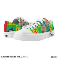 GLAGOLITIC LILIES- POP PRINTED SHOES