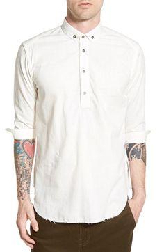 PUBLISH BRAND 'Dion' Three-Quarter-Sleeve Partial Button Woven Shirt