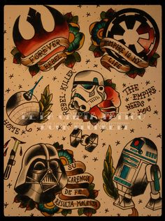 american traditional star wars - Google Search