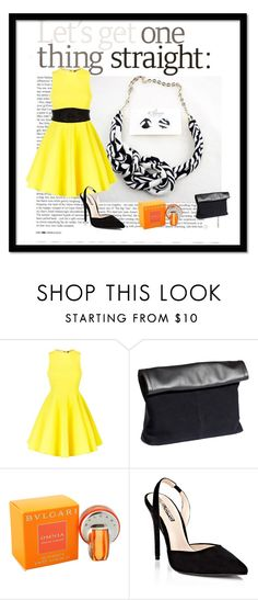 """"""":)"""" by eturnercouture ❤ liked on Polyvore featuring AQ/AQ, H&M, Bulgari and Lipsy"""