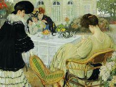 Henry Caro-Delvaille Ladies Taking Tea 1902