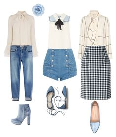 """""""Pussybow love every day!"""" by wellstyledstylist on Polyvore featuring Tory Burch, Miu Miu, Frame, Blumarine, Pierre Balmain, Monsoon, Gap, Charlotte Russe and Mollini"""