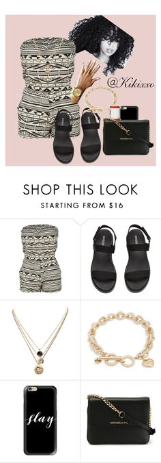 """Untitled #123"" by kikixxo ❤ liked on Polyvore featuring LowLuv, Vera Bradley, Casetify, Chapstick and MICHAEL Michael Kors"