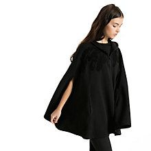 Evolution Women's Swan Cape: Trade your jacket for this impressive Swan-inspired cape from PUMA Evolution. Grafika piór na klatce piersiowej, ramionach i na plecach. Jersey hood lining. Two-way reversed zip. Welt pockets. Loose fit. Bawełna i poliester.