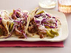 Braised Pork Tacos Recipe : Rachael Ray : Food Network - FoodNetwork.com