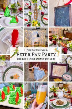 Peter Pan Movie, Peter Pan Party, Peter Pan Disney, Disney Themed Food, Disney Inspired Food, Disney Food, Dinner Themes, Dinner Parties, Disney Dishes