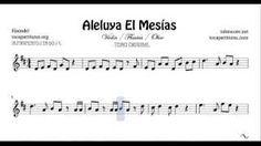 Aleluya El Mesias Partitura de Violín Flautas y Oboe en el Tono Original