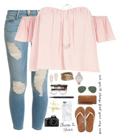 """""""•Faith is the only thing Stronger than Fear•"""" by mgpayne10 ❤ liked on Polyvore featuring Frame Denim, River Island, Kendra Scott, Girly, Olivia Burton, American Eagle Outfitters, Ray-Ban, Bobbi Brown Cosmetics, NARS Cosmetics and H&M"""