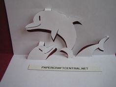 paper cutting templates | Kirigami Paper Cut Art Decoupage Flipper Dolphin | PaperCraftCentral ...