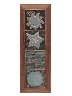 Handmade Ceramic Four Tile Clock
