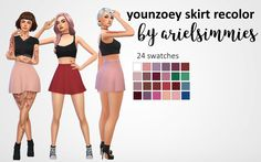 CC Finds — ariel-simmies: YounZoey Skirt Recolor (Follower...