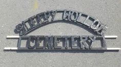 Halloween Cemetery sign.