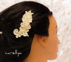 Bridal Lace Headpiece - Vintage Lace Wedding Hair Accessories -