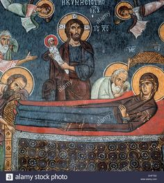 The Dormition, Detail, Church Of Panagia Phorbiotissa At Asinou Stock Photo, Royalty Free Image: 79638873 - Alamy