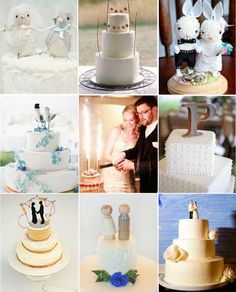 45 fabulous cake toppers from real weddings