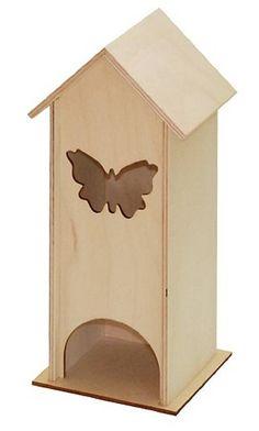Gotana / Domček - zásobník na čaj s motýľom Krabi, Toy Chest, Bookends, Decoupage, Toys, Storage, Furniture, Home Decor, Activity Toys