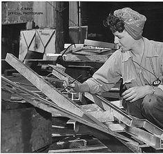 "Sue Protruck, a women worker in shipfitters shop , US Navy Yard, Mare Island, CA."", ca. 1943"