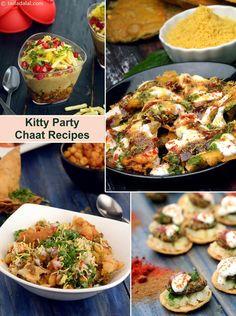 ओकेसनल किटी पार्टी के लिये चाट रेसिपी, Kitty Party Chaat Recipes in Hindi Veg Appetizers, Indian Appetizers, Indian Snacks, Appetizer Recipes, Indian Desserts, Veg Recipes, Indian Food Recipes, Cooking Recipes, Party Recipes