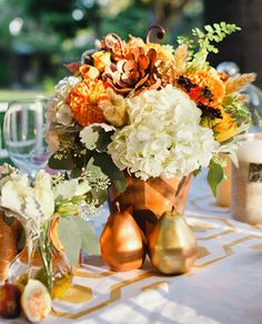 Vibrant Fall wedding inspiration   Real Weddings and Parties   100 Layer Cake
