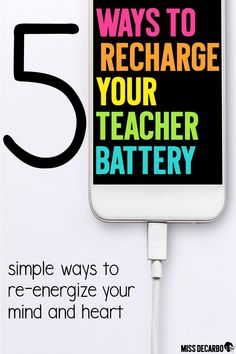 5 simple ways to re-energize your heart and mind for teaching when you're feeling burnt out, stressed, or unfocused in the classroom.
