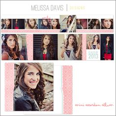 Mini accordion album template from Melissa Davis Designs!