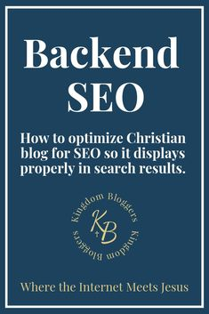 This video tutorial will explain how to enter the SEO data on the backend of your site (before you even publish blog content).  This is an important step in helping Search Engine crawlers establish what your blog's overall purpose is so it can display it properly in search results. #SEO #ChristianBloggingTips #ChristianBloggers #KingdomBloggers #BloggingTips Engagement Tips, Seo Help, Seo Basics, Seo Tutorial, Blog Tips, Search Engine, How To Start A Blog, Purpose, Christian Women