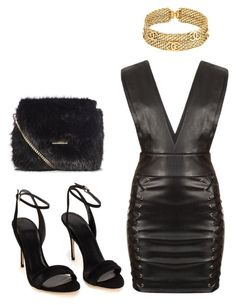 """Black x Gold"" by hautecoutureblvd on Polyvore featuring Chanel and Polo Ralph Lauren"
