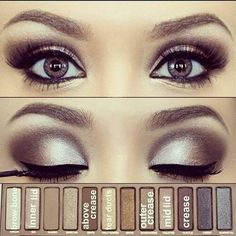 Silver Smoky Eye Using Urban Decay's Naked Pallette... Perfect for a Glamorous Wedding Look!