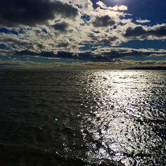 #Connecticut #winter #almostspring #beach #longislandsound #southport #water #sunshine #reflection #clouds
