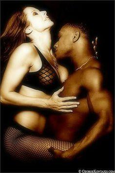 Interracial Couple Making Love
