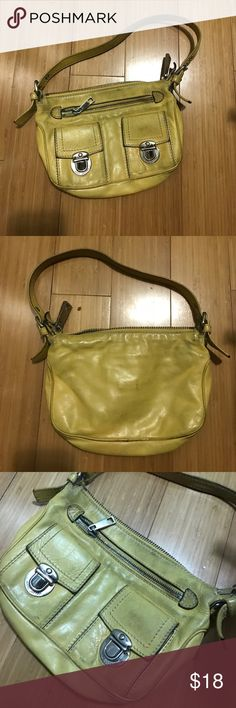 Marc Jacobs Mini Shoulder Bag - yellow leather Authentic - shows wear - needs cleaning - price reflects condition Marc Jacobs Bags Shoulder Bags