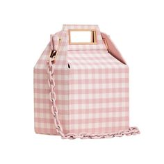 """Pop & Suki """"Takeout"""" bag in cotton candy pink gingham Novelty Handbags, Purses And Handbags, Pop And Suki, Porter Bag, Types Of Purses, Pink Cotton Candy, Pink Gingham, Craft Bags, Cute Bags"""