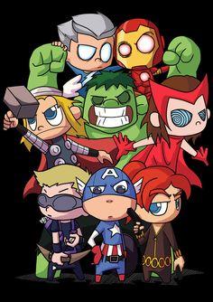 #Baby #Avengers #Fan #Art. (Baby Team) By:Rezaazmi. (THE * 5 * STÅR * ÅWARD * OF: * AW YEAH, IT'S MAJOR ÅWESOMENESS!!!™)[THANK Ü 4 PINNING!!!<·><]<©>ÅÅÅ+(OB4E) Avengers Cartoon, Marvel Cartoons, Marvel Comics Superheroes, Marvel Art, Marvel Characters, Marvel Avengers, Baby Marvel, Chibi Marvel, Baby Avengers
