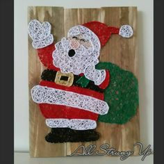 Christmas Crafts For Kids, Xmas Crafts, Christmas Art, Yarn Crafts, Decor Crafts, Diy And Crafts, String Art Templates, String Art Tutorials, String Art Patterns