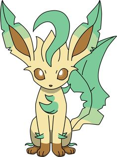 Leafeon Sitting PNG by ProteusIII.deviantart.com on @DeviantArt