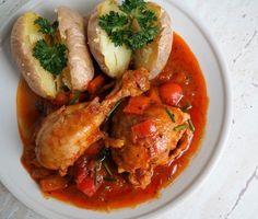 Kuracie stehná na paprikovej omáčke