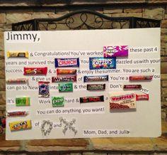 candy card for graduation High School Graduation, Graduation Party Decor, Candy Bar Gifts, Creative Money Gifts, Candy Board, Party Ideas, Gift Ideas, Event Ideas, Fun Ideas