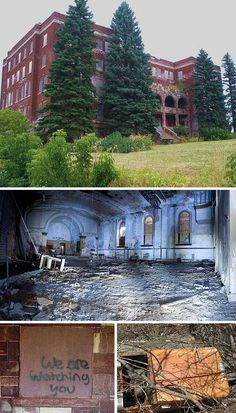 Designed to accommodate 200 children, the Holy Family Orphanage in Marquette, Michigan opened in 1915 and closed in 1965 – it's been abandoned since then. The orphanage was built at the then-astronomical cost of $90,000 to $120,000 and featured bathrooms on every floor, an in-house laundry, and heating and plumbing facilities housed in an annex. The City of Marquette has been attempted to sell the building, valued at $400,000 but as yet there have been no takers… not even Stephen King.