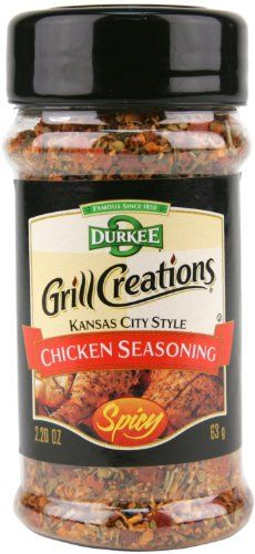 Durkee Grill Creations Kansas City Style Chicken Seasoning Spicy (Pack of 2, 2.20z Bottles) Durkee http://www.amazon.com/dp/B00EA9N6NK/ref=cm_sw_r_pi_dp_Z1d6wb0KY2JAQ