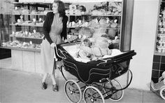 When push comes to shove: previous generations did not face the bewildering choice presented to today's parents when selecting a pram Pram Stroller, Baby Strollers, Maclaren Pushchair, I Want A Baby, Vintage Pram, Prams And Pushchairs, Todays Parent, Baby Buggy, Scary Mommy