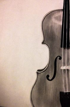 Charcoal Drawing Voilin Class by ChicCharcoals on Etsy