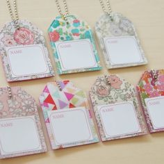 Name Tags, Handicraft, Liberty, Diy And Crafts, Presents, Sewing, Birthday, Frame, Fabric