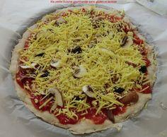 Pizza 🍕 au gruyère râpé végétal sans gluten ni lactose