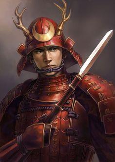 One more rendition of Yukimura. Samurai Weapons, Samurai Swords, Character Portraits, Character Art, Character Design, Sun Tzu, Sanada Yukimura, Vikings, Sengoku Basara