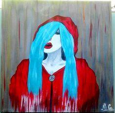 """""""Exhale"""" 12x12 acrylic on canvas"""