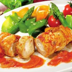 Chicken Stuffed with Cheese and Paprika #dinner #actifry