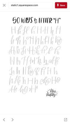 H hand lettering alphabet Hand Lettering Practice, Hand Lettering Alphabet, Doodle Lettering, Creative Lettering, Calligraphy Letters, Brush Lettering, Caligraphy, Graffiti Alphabet, Hand Lettering Tutorial