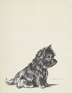 TERRIER 1930s Vintage Dog Print  Lucy Dawson Wall by HucksterHaven, $15.00
