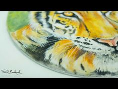 Tiger Plaque by Calli Hopper   CakeFlix Tutorial - YouTube Cake Painting, Painted Cakes, Beautiful Hands, Hand Painted, Youtube, Youtubers, Youtube Movies